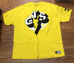 Wwe Cm Punk Gts/best In The World Yellow X- Large Mens T-shirt Wwe Authentic