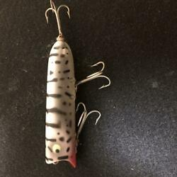 Used Old Heddon Lucky 13 Wcds Vertical Cracks Fishing Lure Dot Scratches