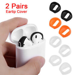 2pair Anti Slip Silicone Apple Airpods Soft Earpads Earphone Case Cover Ear Pads
