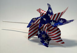 American Flag Pinwheel Fourth Of July Celebration Outdoor Decoration Toy