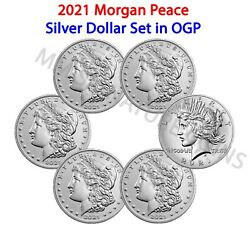 2021 Morgan And Peace Dollar 6 Coin Set Cc O D S P Confirmed Orders Pre-sale