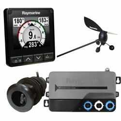 Raymarine I70s System Pack W/color Instrument And Wind, Dst Transducers, Itc-5,...