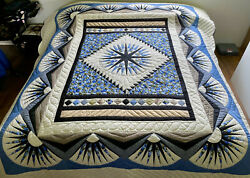 Amish Quilt For Sale Mariner's Compass Amish King Quilt Amish Queen Quilt