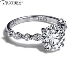 1.52 Ct Engagement Ring Alternating Marquise Round 14ct White Gold Si1 71651931
