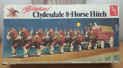 Vintage Amt Budweiser Clydesdale 8-horse Hitch 7702 120 Scale Plastic Model Ki