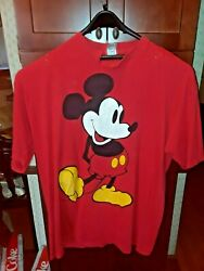 Vintage Disney Designs Micky Mouse T-shirt 1 Size Fits All 1970 Red Collectible