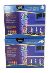 Holiday Time Random Twinkling Ribbon Style Light Set 150 Ct Indoor/outdoor