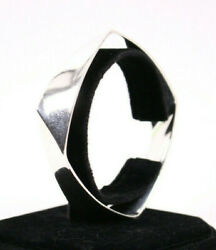 And Co Frank Gehry Sterling Silver Torque Square Bangle Bracelet