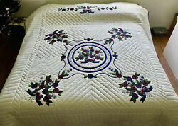 Amish Applique Quilt For Sale Rose Of Sharon Amish King Quilt Amish Queen Quilt