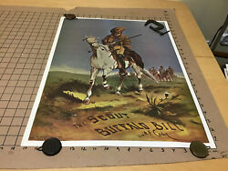 Poster - 1966 Carl Wray Card Co Repro Of The Scout Buffalo Bill W F Cody