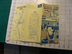 High Grade Vintage Brochure Travel The Water Way--cape May-lewis Ferry