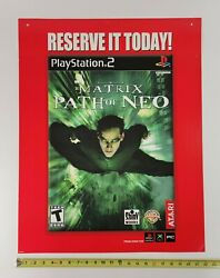 The Matrix Path Of Neo Video Game Store Display Sign Sony Ps2 X-box 2005 Promo