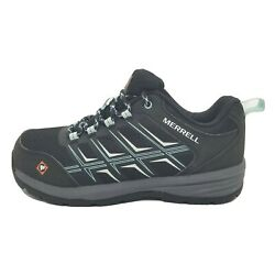 Merrell Work Windoc Fst Womenand039s Size 7 Black Safety Stell Toe Shoes J17430 New