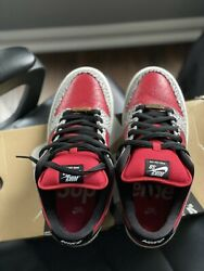 Size 8 - Nike Sb Dunk Low Premium X Supreme Red Cement 2012