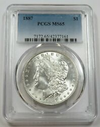 1887-p Pcgs Ms65 Mint State Silver Morgan Dollar 1 Us Coins Item 29124a