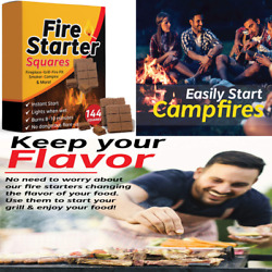 Fire Starter Squares 144 Larger Safer Starters For Fireplace Wood Stove Grill