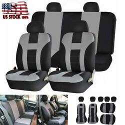 9pcs Full Set Universal Auto Seat Covers Front Andrear Protector For Car Truck Suv