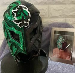Bushi New Japan Pro-wrestling Actual Used Mask Autographed 2019 Kyoto Tournament