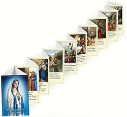 Mysteries Of The Rosary Accordion Fold Booklet -set Of 3 J0187