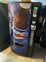 Dixie Narco 501e Soda Vending Machine Cans And Bottles Pepsi