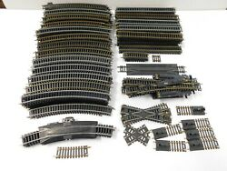 Lot Of Over 200 Pieces Ho Train Track Atlas Tyco Switches Straight Curved Plus