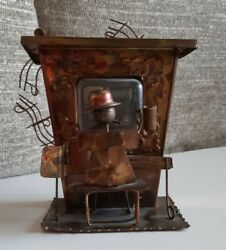 Htc Antiqued Copper Finished Metal Music Box Tavern Bar Windmill The Sting