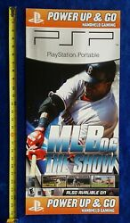 Store Display Sign Sony Psp Mlb The Show 2006 Playstation Video Game Promo