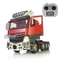 1/14 Lesu Rc Metal Chassis Sound Roof Light Hercules Actros Tractor Truck Radio