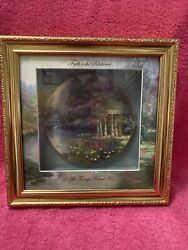 Knowles Blessings Of Faith Thomas Kinkade Gardens Of Tranquility Plate In Case