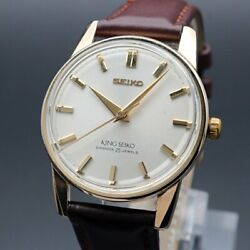 Seiko King Seiko 442000 Vintage Overhaul 2nd Manual Winding Mens Watch Authentic