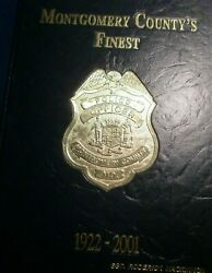 Maryland Montgomery County's Finest 1922-2001 Police Law Enforcement Hb History