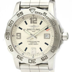 Polished Breitling Colt 44 Stainless Steel Quartz Mens Watch A74387 Bf534510