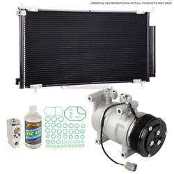 For Lexus Gs450h 2007-2011 A/c Kit W/ Ac Compressor Condenser And Drier Gap