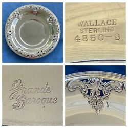 """Wallace Grande Baroque Sterling Silver 12 3/8"""" Tray Or Platter Plate 1.3 Pounds"""