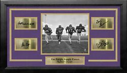 The Purple People Eaters Vikings 8x10 Framed Photo With Engraved Autographs