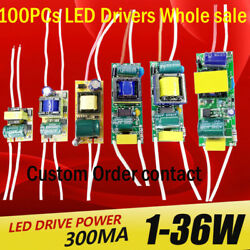 100pcs Led Driver 300ma Power Supply Built-in Constant Current 1-3w,4-7w,8-12w