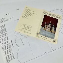 Threads That Bind Christmas Sewing Pattern Only Snowboys 114 Snowmen Dolldecor