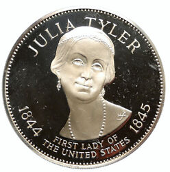1972 Fm Us Usa White House First Lady Julia Tyler Old Proof Silver Medal I95817