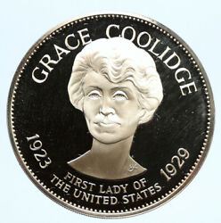1972 Fm Us Usa White House First Lady Grace Coolidge Proof Silver Medal I95824