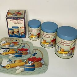 Vintage Nested Canister Set With Hot Pads Trivets Make Love The Main Ingredient