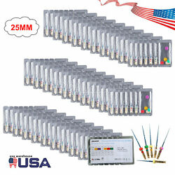 1-300 Dental Endo Super Niti Files Rotary Root Canal Engine Burs Tips Sandent