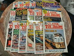 Classic Toy Trains Magazine For Model Railroading Vintage Lot Of 26