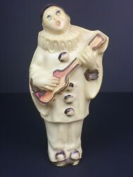 Rare Vintage Pierrot Harlequin Clown Celluloid Baby's Rattle