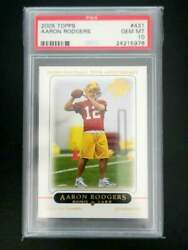 Aaron Rodgers 2005 Topps 431 Base Psa 10 Rc Packers