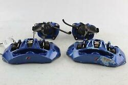 2013 14 15 16 17 Bmw M5 M6 F10 F13 X4 Blue Brembo Calipers Left Right Front Rear