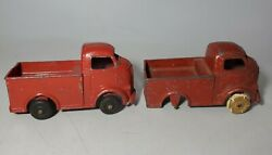 Lot Of 2 Vintage Barclay Metal Toy Trucks