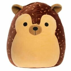 Squishmallow, Hans The Brown Hedgehog Squishmallow Plush Doll Kellytoy 8 New