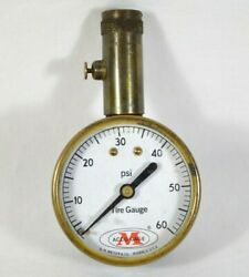 Vintage G H Meiser And Co M Precision Accu-gage Collectible Tire Gauge Usa Made