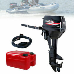 12 Hp 2 Stroke Fishing Boat Engine Outboard Motor Water Cooling System Cdi 169cc