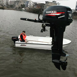 2 Stroke 18 Hp Outboard Motor Engine Fishing Boat Cdi Water Cooling System Usa